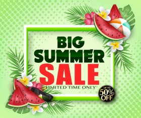 Set of summer sale background design vectors 03