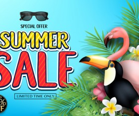 Set of summer sale background design vectors 05