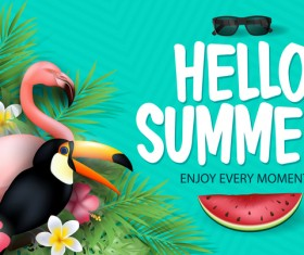 Set of summer sale background design vectors 06