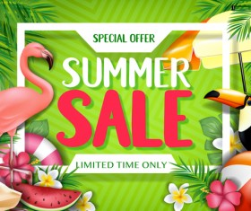 Set of summer sale background design vectors 07