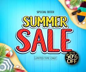 Set of summer sale background design vectors 08