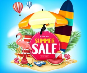 Set of summer sale background design vectors 09
