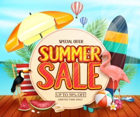 Set of summer sale background design vectors 11