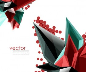 Sharp polygon abstract background vectors 01