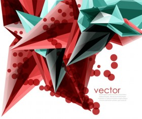 Sharp polygon abstract background vectors 02