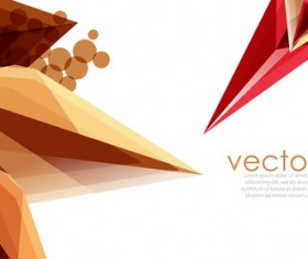 Sharp polygon abstract background vectors 03