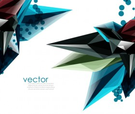 Sharp polygon abstract background vectors 04