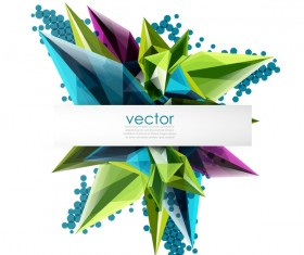 Sharp polygon abstract background vectors 05