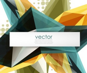 Sharp polygon abstract background vectors 07