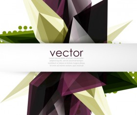 Sharp polygon abstract background vectors 08