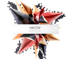Sharp polygon abstract background vectors 09