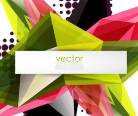 Sharp polygon abstract background vectors 10
