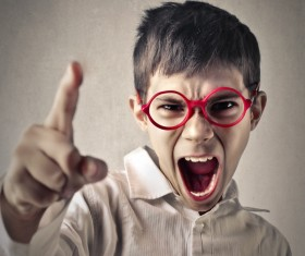 Shouting little boy Stock Photo 01