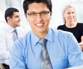 Smiling male business person Stock Photo