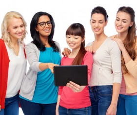 Smiling women of different nationalities Stock Photo 01