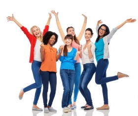 Smiling women of different nationalities Stock Photo 10