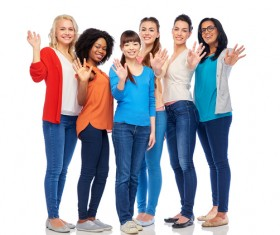 Smiling women of different nationalities Stock Photo 11