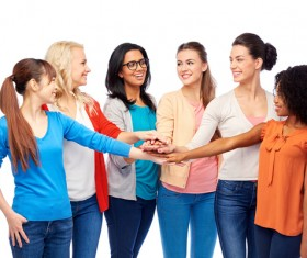 Smiling women of different nationalities Stock Photo 12