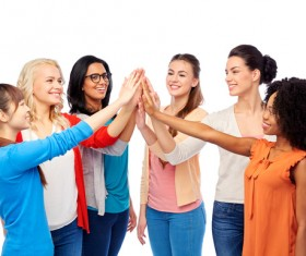 Smiling women of different nationalities Stock Photo 13