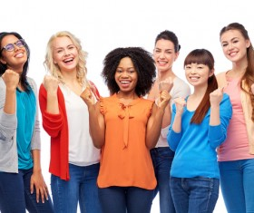 Smiling women of different nationalities Stock Photo 14