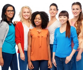 Smiling women of different nationalities Stock Photo 17