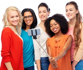 Smiling women of different nationalities Stock Photo 18