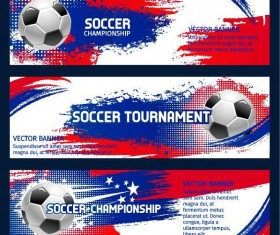 Soccer world cup banners vector 01