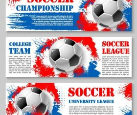 Soccer world cup banners vector 02