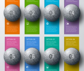 Sphere with option banners infographic vector