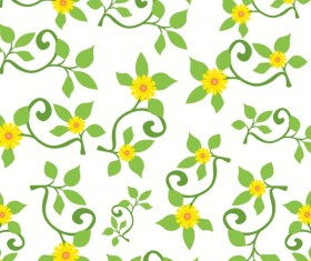 Spring flower seamless pattern vector material 01