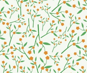 Spring flower seamless pattern vector material 02