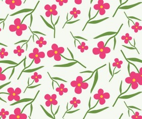 Spring flower seamless pattern vector material 03