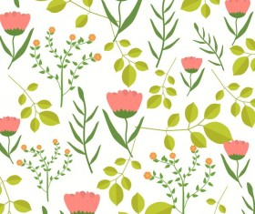 Spring flower seamless pattern vector material 04