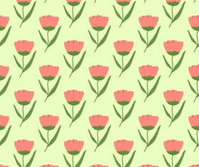 Spring flower seamless pattern vector material 05