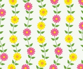 Spring flower seamless pattern vector material 07