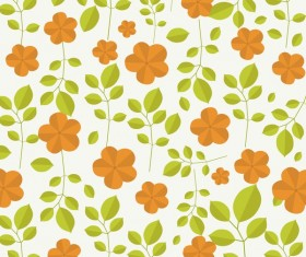 Spring flower seamless pattern vector material 08