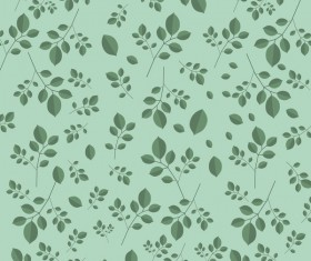 Spring green leaves vector pattern 01