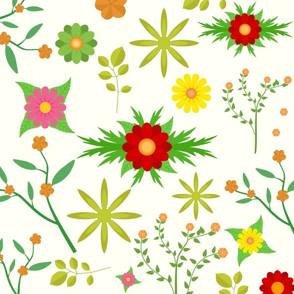 Spring seamless pattern design vectors 01
