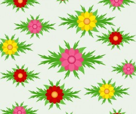 Spring seamless pattern design vectors 02