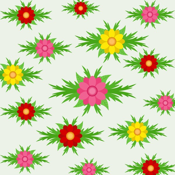 Spring seamless pattern design vectors 02