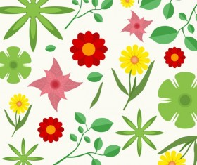 Spring seamless pattern design vectors 03