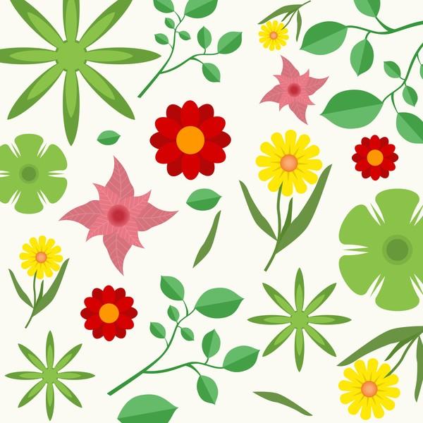 Spring seamless pattern design vectors 03
