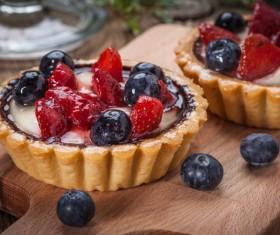 Strawberry and blueberry decorated fruit tart Stock Photo 11
