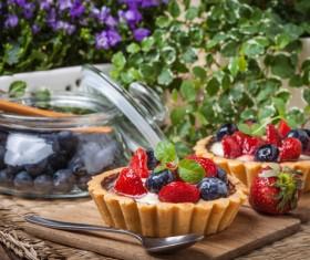 Strawberry and blueberry decorated fruit tart Stock Photo 13
