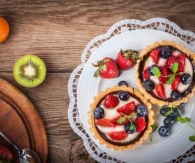 Strawberry and blueberry decorated fruit tart Stock Photo 14