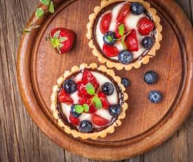 Strawberry and blueberry decorated fruit tart Stock Photo 15