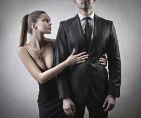 Stylish men and women Stock Photo