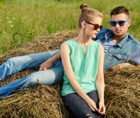 Stylish young couple outing Stock Photo 03