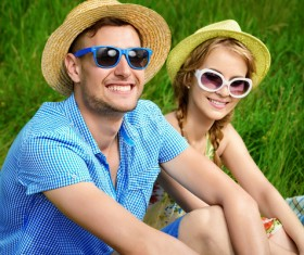 Stylish young couple outing Stock Photo 04