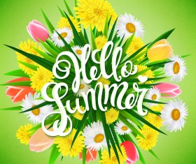 Summer flower illustration vector